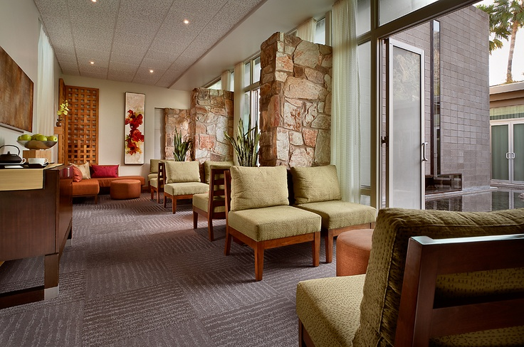 Sanctuary Spa womens waiting room designed by Lynne Beyer who is nominated for ASID Design Awards