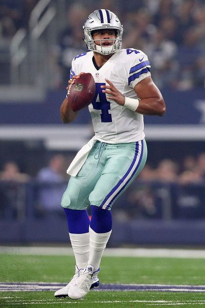 Dak Prescott #4 of the Dallas Cowboys throws during a game between the Dallas Cowboys and the Chicago Bears at AT&T Stadium on September 25, 2016 in Arlington, Texas.