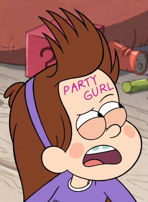 Mabel is a party gurl