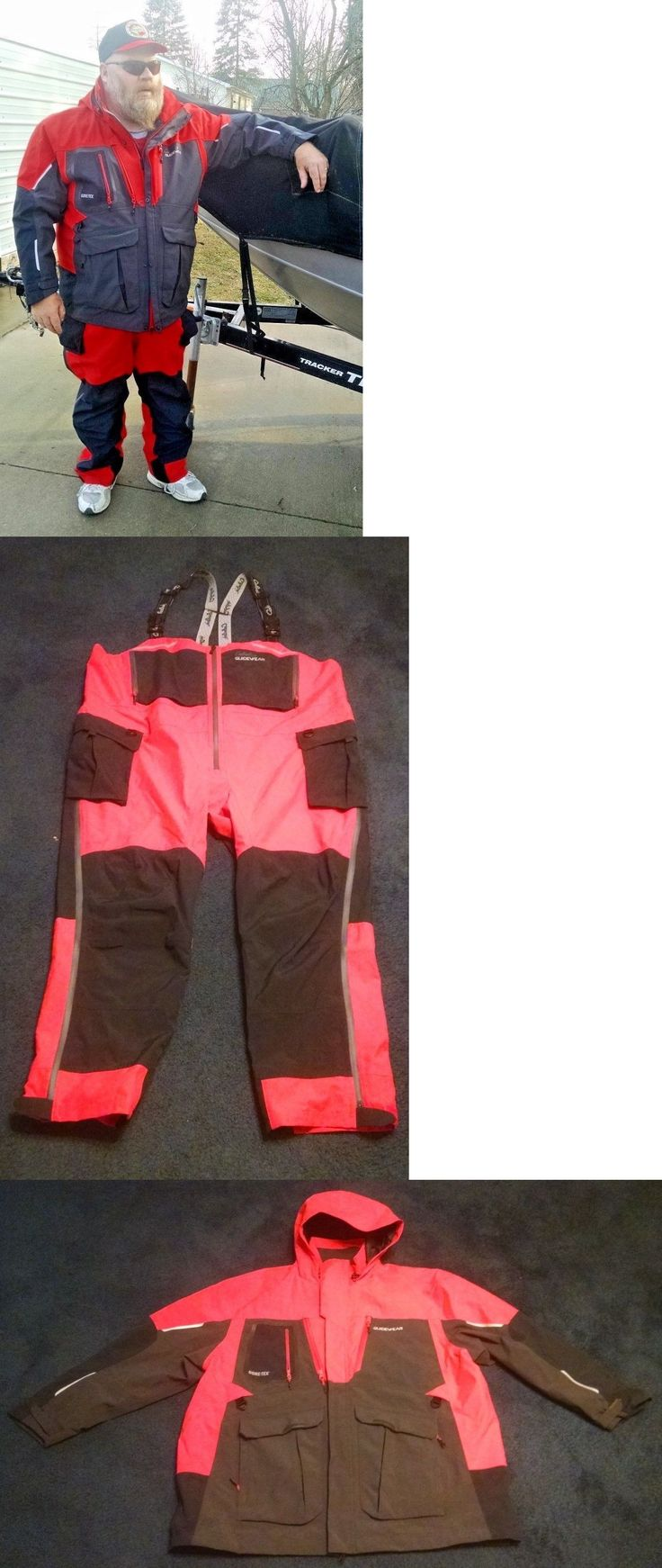 Jacket and Pants Sets 179981: Gore-Tex Parka And Bibs By Cabelas Red / Black Size 3Xl New With Tags BUY IT NOW ONLY: $550.0