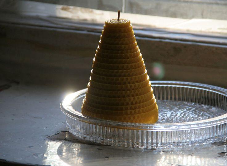 """Купить Свеча восковая """"Улей"""" - свеча, восковая свеча, свеча из воска, свеча своими руками"""