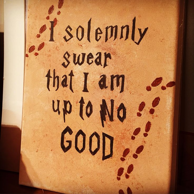 Harry Potter canvas I solemnly swear I am up to no good quote