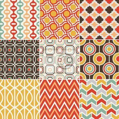"""Papier peint """"arrière-plan, éclatant, geometriques - rétro seamless pattern"""" ✓ Un large choix de matériaux ✓ Impression écologique 100% ✓ Regardez des opinions de nos clients !"""
