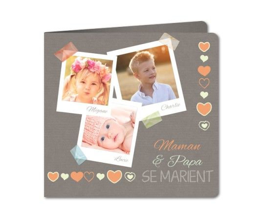 faire part mariage polas scotch et papier kraft rounded