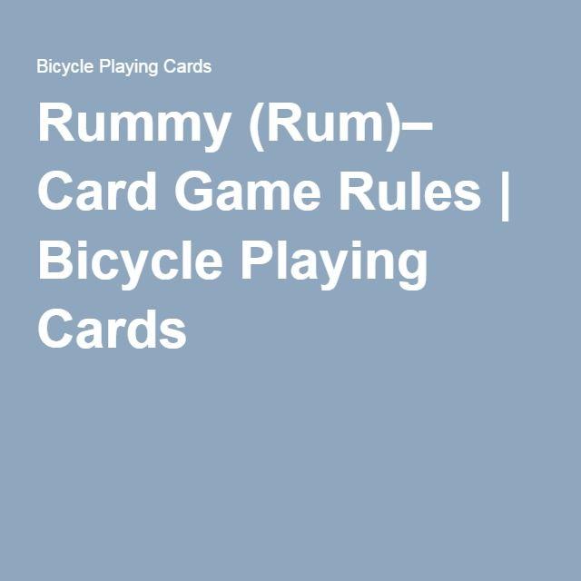 Rummy (Rum)– Card Game Rules