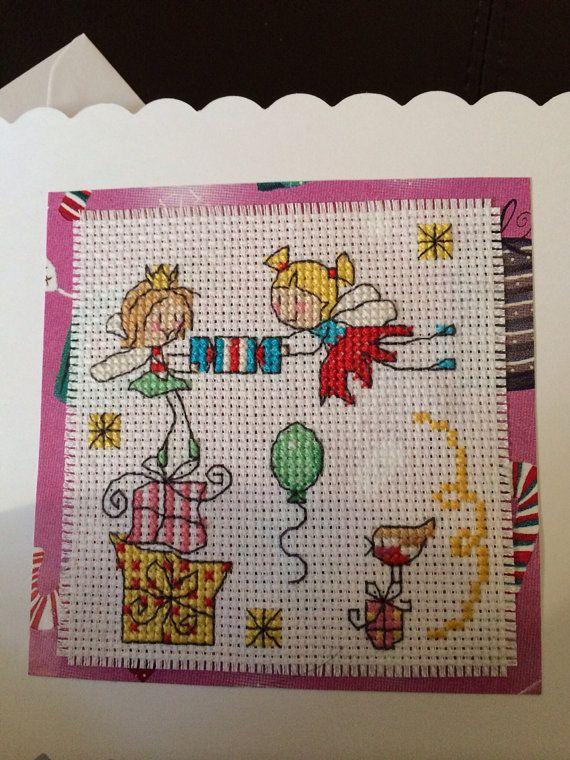 Christmas cracker Fairies Christmas Card on Etsy, £3.00