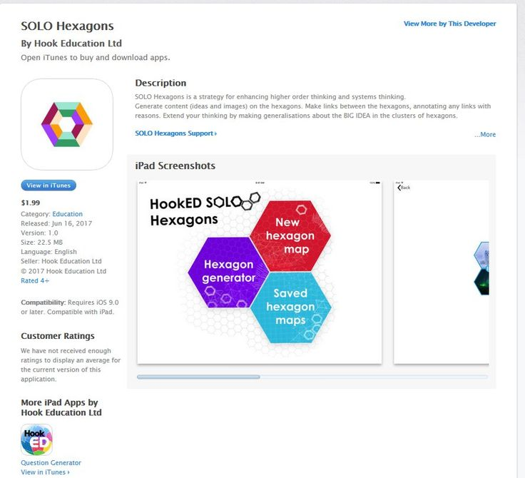 "Pam Hook on Twitter: ""SOLO Hexagons iPad app released. https://t.co/oTUDGeMPrT #SOLOTaxonomy #Hexagons #systemsthinking https://t.co/wD4P2mGStZ https://t.co/DBIaqwA7g7"""