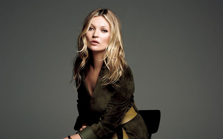 Download wallpapers Kate Moss, photoshoot, 4k, British supermodel, beautiful woman, British actress