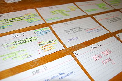 get organized... #study smart index card system for the #barexa Another great use for the index cards included in our Study Care Package!  http://sendalittlesunshine.com/store/study-care-package/