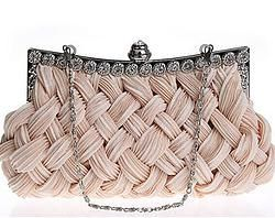 Woven diamond clutch bag