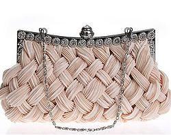 Woven diamond clutch bag