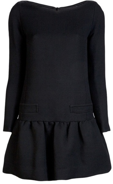 victoria beckham Drop Waist Dress - Lyst