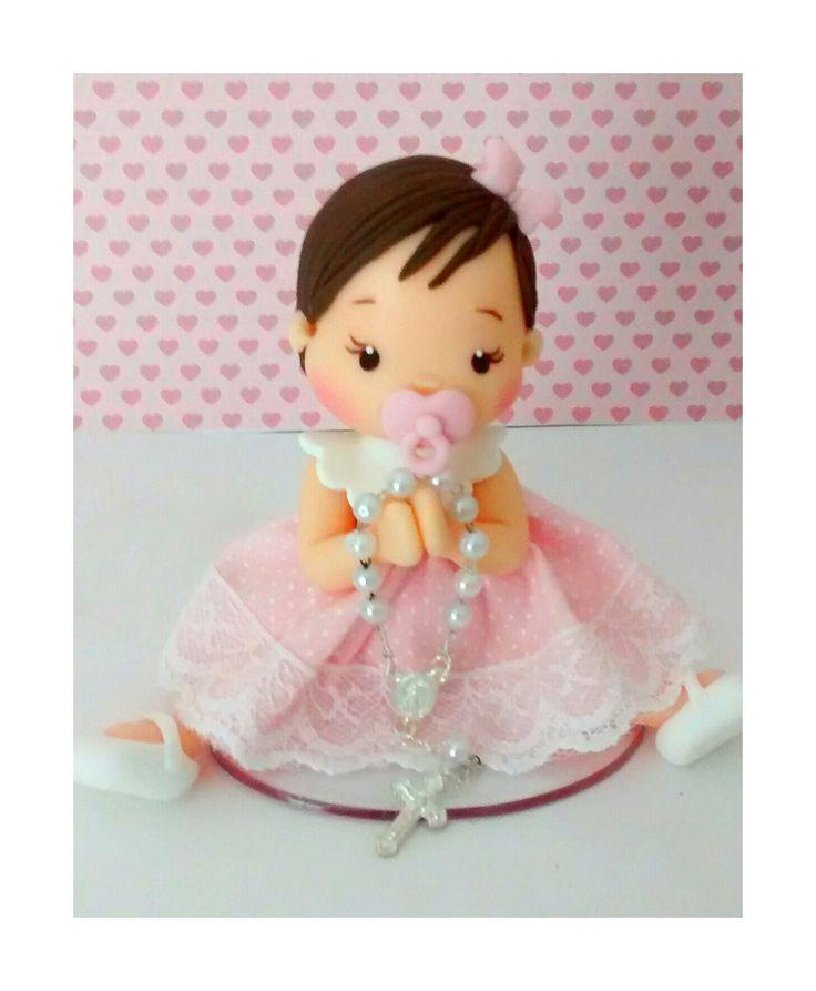 mini topo de bolo co 9 cm de altura, cor de cabelos,olhos e vestido a escolher