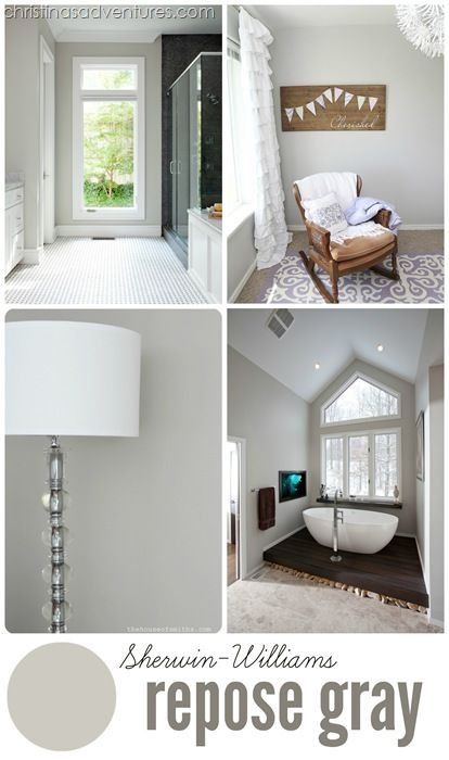 Sherwin Williams Repose Gray - a great neutral paint color. #paint #neutral #DIY