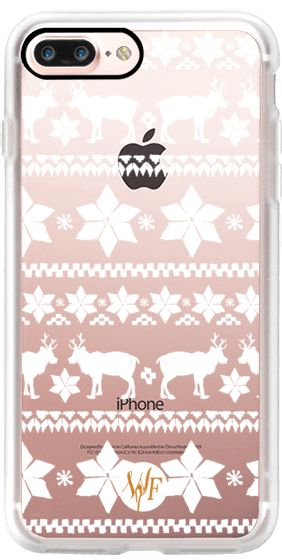 Casetify iPhone 7 Plus Case and other White Christmas iPhone Covers - Christmas Sweater Transparent by Wonder Forest   Casetify