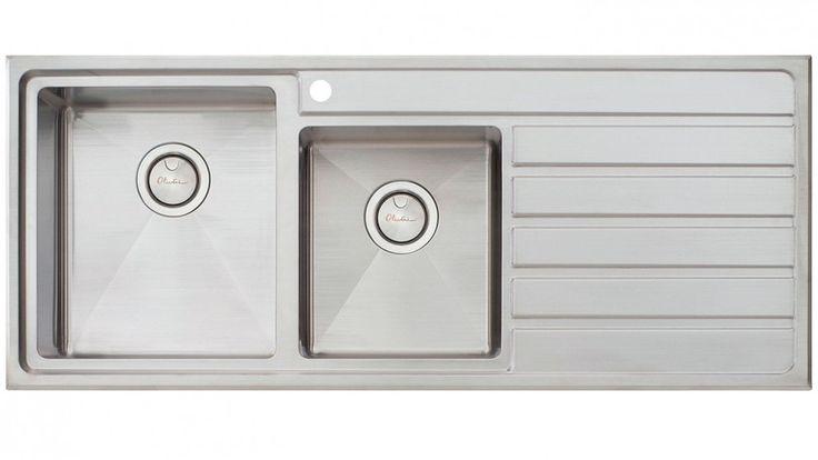 Oliveri Apollo 1 and 3/4 Inset Bowl Sink - Left Hand - Sinks & Taps - Kitchen Appliances | Harvey Norman Australia
