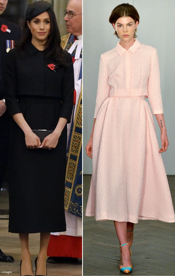 deaf14a6c21 4 25 2018 - Meghan Markle wore a dress suit from Emilia Wickstead for the  2018 ANZAC Day Memorial Service at Westminster Abbey.
