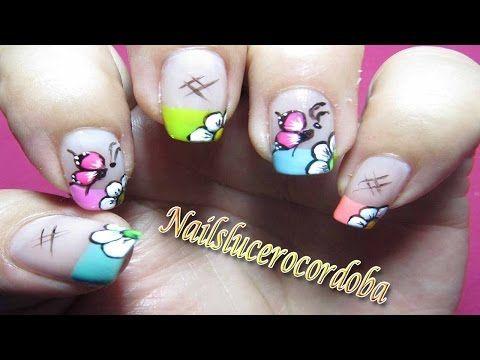Decoracion De Uñas Mariposa Y Flores - Como Pintar Mariposas Y Flores - Butterfly Nail Art| NLC - YouTube