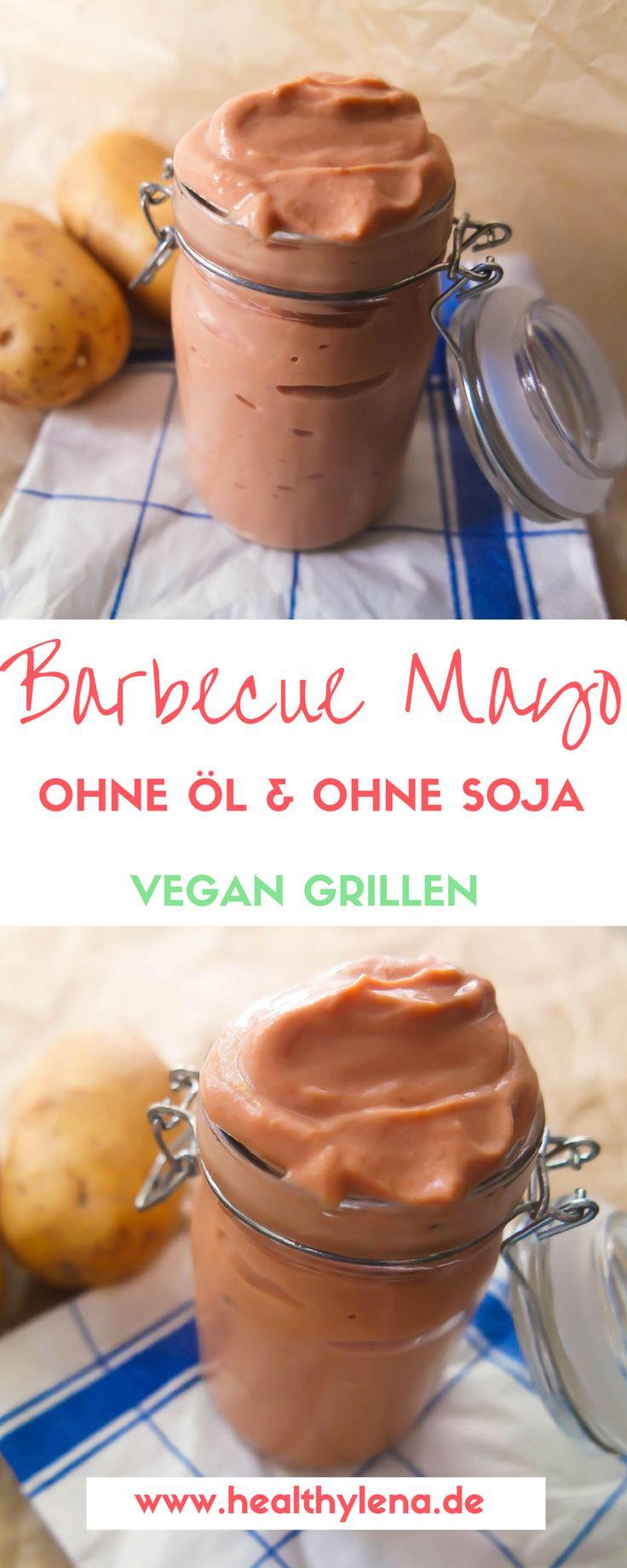 """Das gute Wetter bringt dich so richtig in Grill-Laune? Perfekt! Heute habe ich dir ein Rezept für eine vegane Barbecue Mayonnaise mitgebracht, die ganz ohne Soja oder Öl auskommt. Dieses Rezept macht den Anfang der Reihe """"Vegan Grillen"""". Für die nächsten Wochen zeige ich dir nämlich weitere schmackhafte Rezepte zum Grillen ganz ohne Tier. Viel Spaß beim Grillen!"""