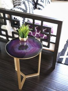 A Kailo Chic Life: Decorate It - A Collection of Side Tables ... Agate and gold side table at World Market