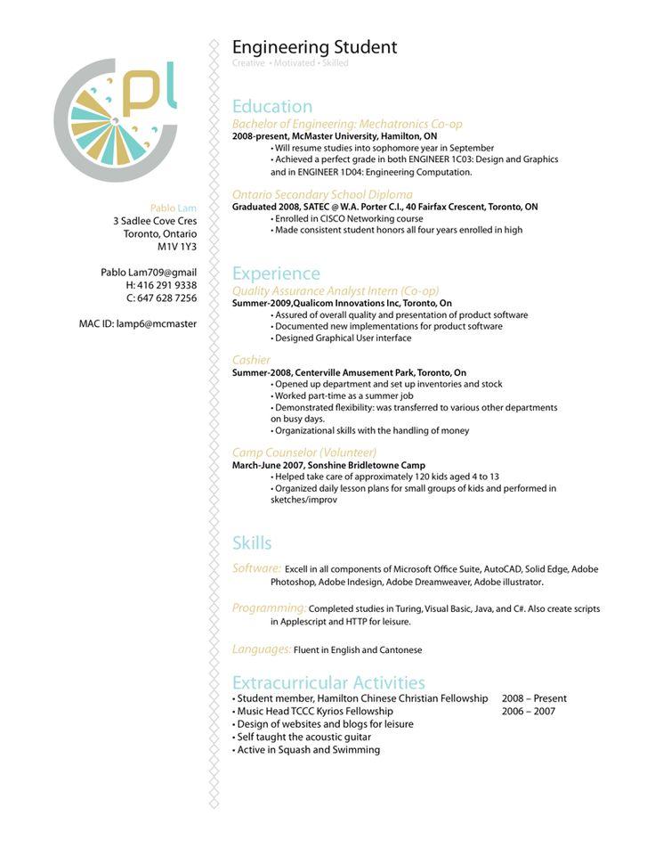 resume software engineer by p3nsuk33deviantartcom