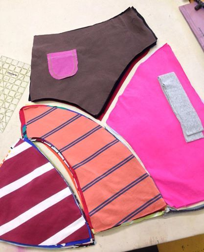 On the Combining table this week…   8 Piece Skirt… don't forget the pocket!
