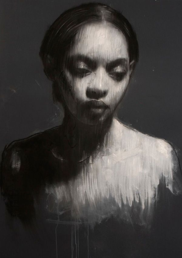 Ciprana, pastel & collage, 46ins x 32ins. £4500 Mark Demsteader www.thewhiteroomgallery.com/demsteader.php