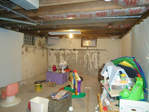 Finished Unfinished Basement Playroom