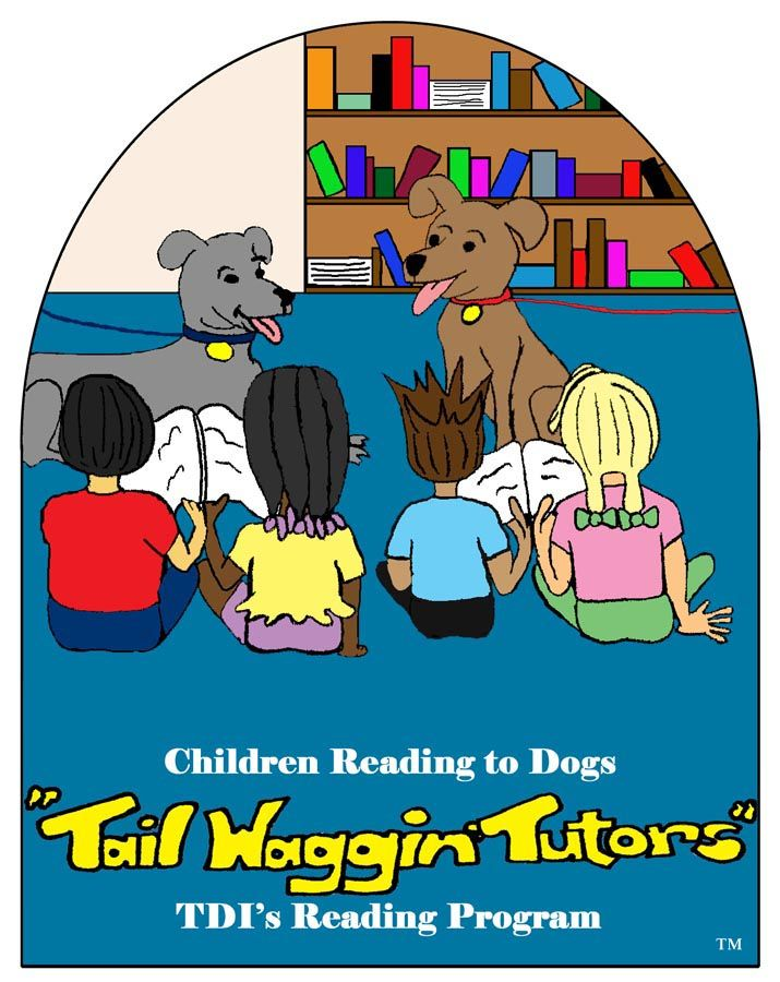 Therapy dogs and children