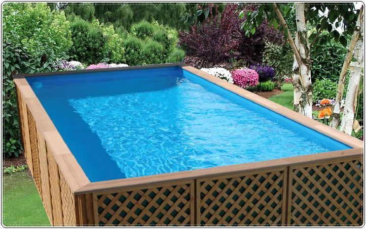Wooden Above Ground Pools Design Diy swimming pool