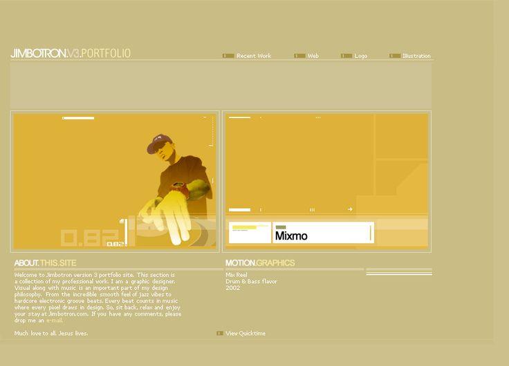 Jim Botron website in 2002