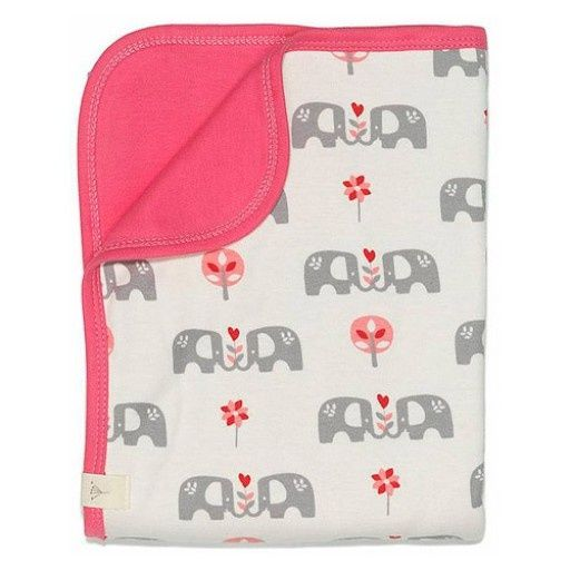 Babydeken Olifant roze