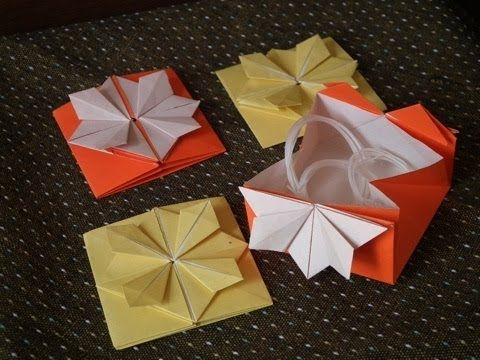 """Japanese Traditional ORIGAMI """"The folding paper-case for yarns"""""""