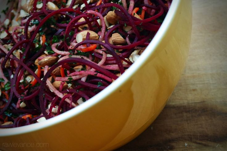 Spiralized Beet & Jicama Bowl