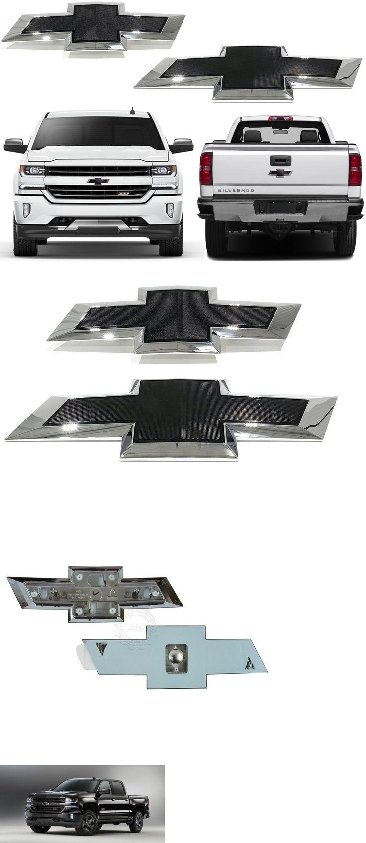 Auto parts general oem gm black bowtie emblems for 2016 2017 silverado front