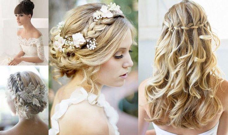 """Coiffure mariage cheveux longs à type """"bohème"""""""
