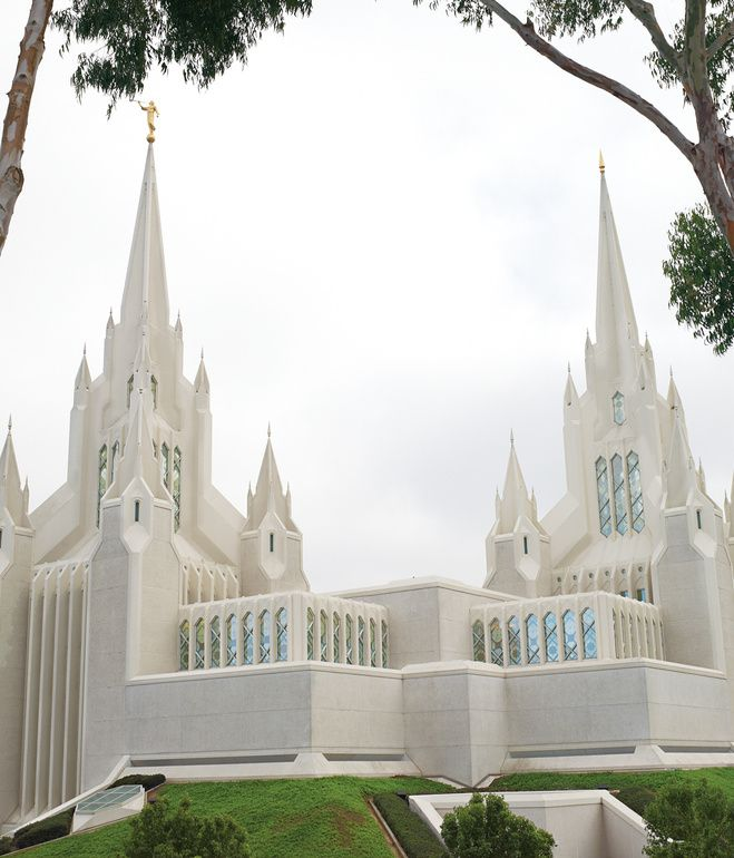 San Diego's main Mormon temple is an unusual building, but architect Aaron Anderson will take unusual over bland any day.  Photo by Bryce Duffy.