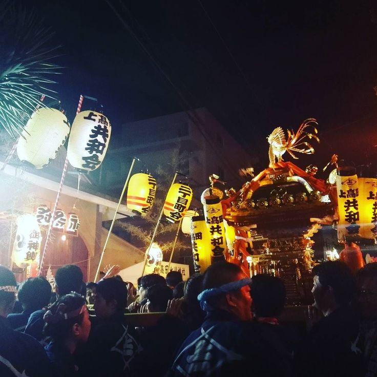 近所の氏神さんの秋祭り The autumn festival is held in the shrine living my neighboring tutelary deity. #秋祭り#神輿#氏神#100パーセントプロジェクト#100percentproject #japan #matsuri #japanesefestibal #shrine #traditional #