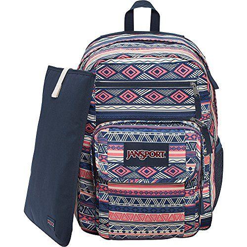 JanSport Digital Student Laptop Backpack- Discontinued Colors (Navy Color Geo)