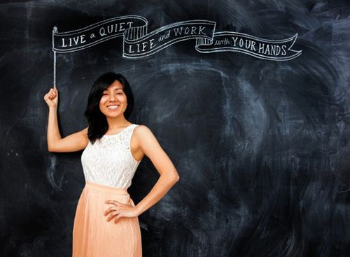 A Love for Lettering and Chalk   Graphic Designer and Typographer Dana Tanamachi - Heart Handmade uk