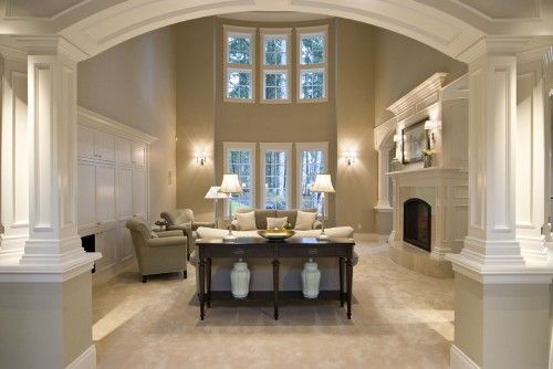 Best 25 two story fireplace ideas on pinterest two - Traditional living room paint colors ...