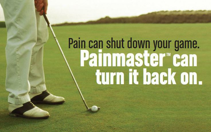 Back pain shutting down your game? Get back in the swing of things with Painmaster!