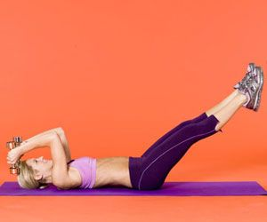 Get Rid of Arm, Leg, and Ab Flab Fast: Tone your top three jiggle zones -- upper arms, abs, and legs -- in just 10 minutes a day.