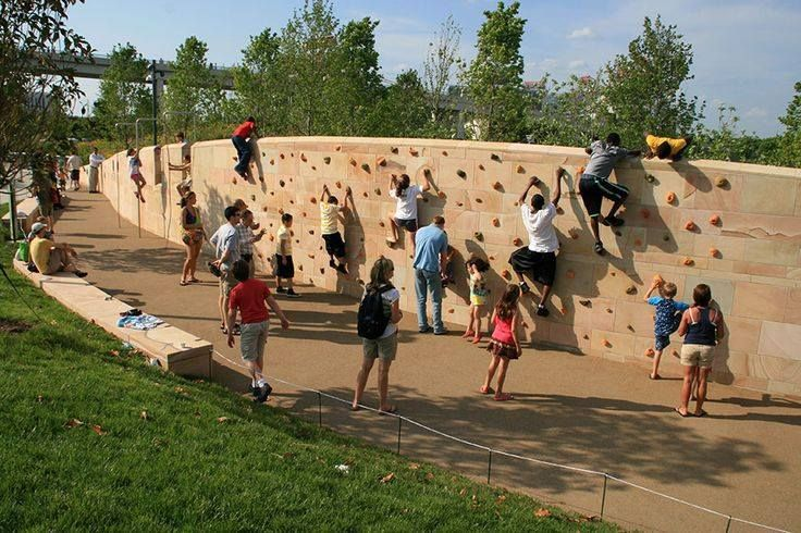 If the kids are going to climb the walls anyway, why not enable them?  Image: CUMBERLAND PARK by Hargreaves Associate