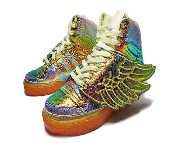 Adidas Foil Wings Jeremy Scott JS Women Kids Size US 7 UK 6 EU 40 WOMEN 9 NEW #adidas #AthleticSneakers