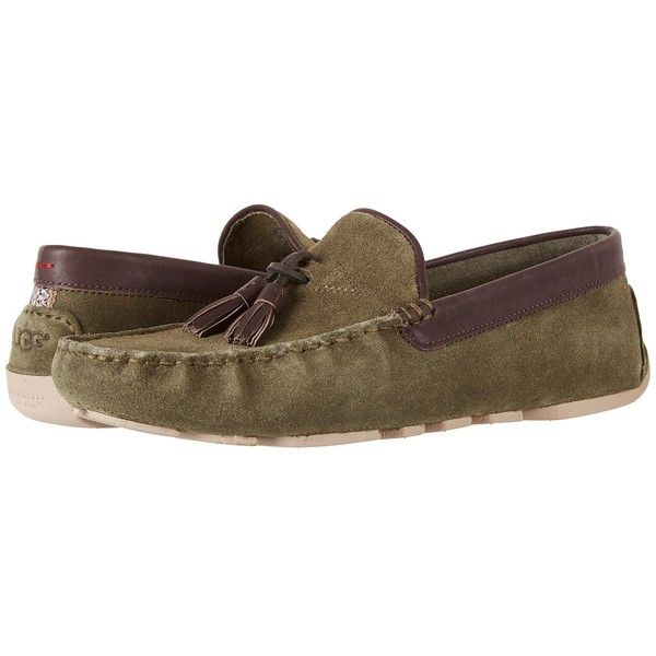 UGG Marris (Spruce) Men's Shoes ($150) ❤ liked on Polyvore featuring men's fashion, men's shoes, mens woven shoes, mens tassle loafers, mens leather shoes, mens tassel shoes and mens tassel loafers