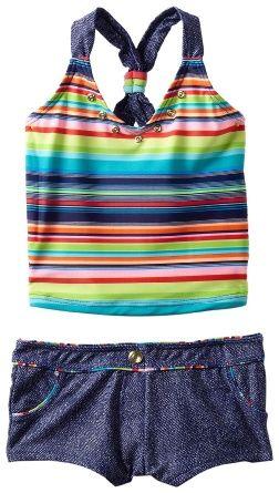 Amazon.com: Gossip Girl Girls 7-16 Stream Line Two Piece Tankini: Clothing