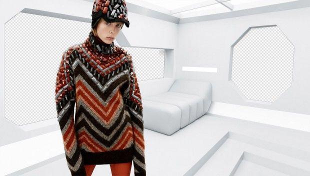 Эди Кэмпбелл в рекламе H&M Studio (Интернет-журнал ETODAY)