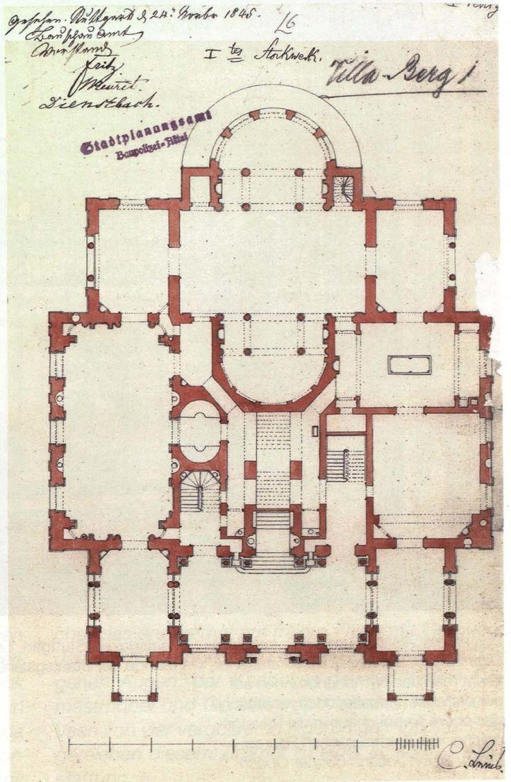 Christian_Friedrich_von_Leins,_Villa_Berg,_Grundriss_des_Erdgeschosses,_1845.jpg (1245×1905)