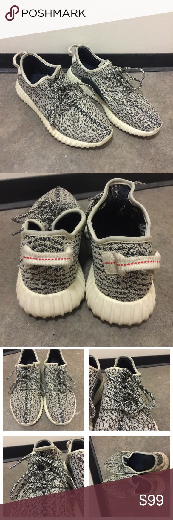 Authentic Turtle Dove Adidas Yeezy Boost 350 These Authentic Turtle Dove Adidas Yeezy Boost 350s are the perfect addition to anyone's sneaker collection. These shoes feature Adidas signature Boost technology making these shoes extremely comfortable. They have been worn, so there are some marks on the soles of the shoes. The original box has been recycled with the Foot Locker receipt, so it doesn't not include those. You'll only be receiving the pair of shoes. Yeezy Shoes Sneakers